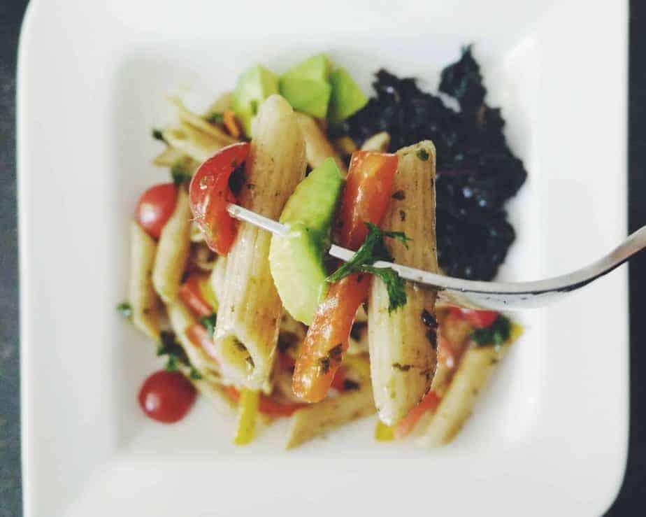 Summer Pasta Salad w/ Basil Balsamic Vinaigrette