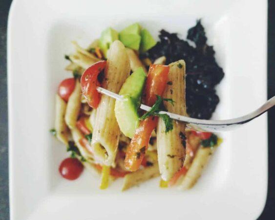 Summer Pasta Salad | Basil Balsamic Vinaigrette