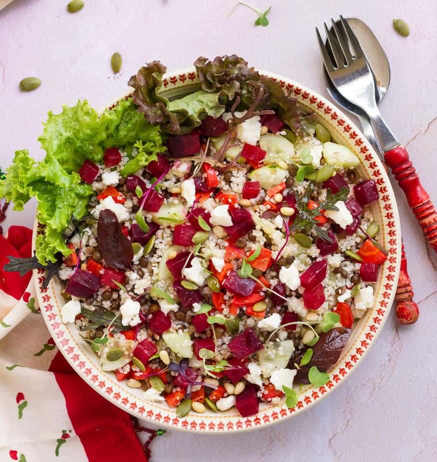 Lentil & Millet Salad | Easy glutenfree healthy lentil millet summer salad