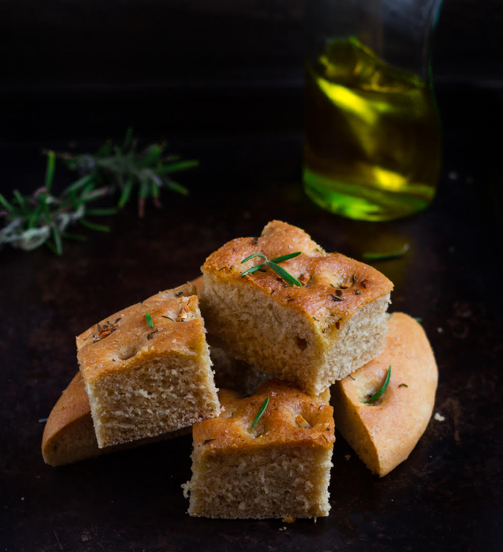 Herb & Garlic Focaccia easy bread baking