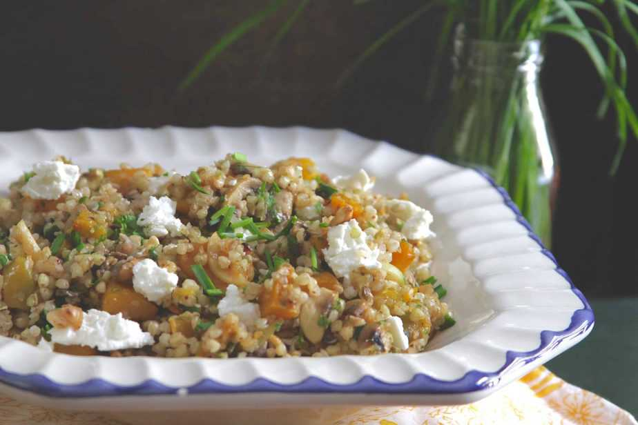 Buckwheat Pilaf w/ Pumpkin & Mushrooms