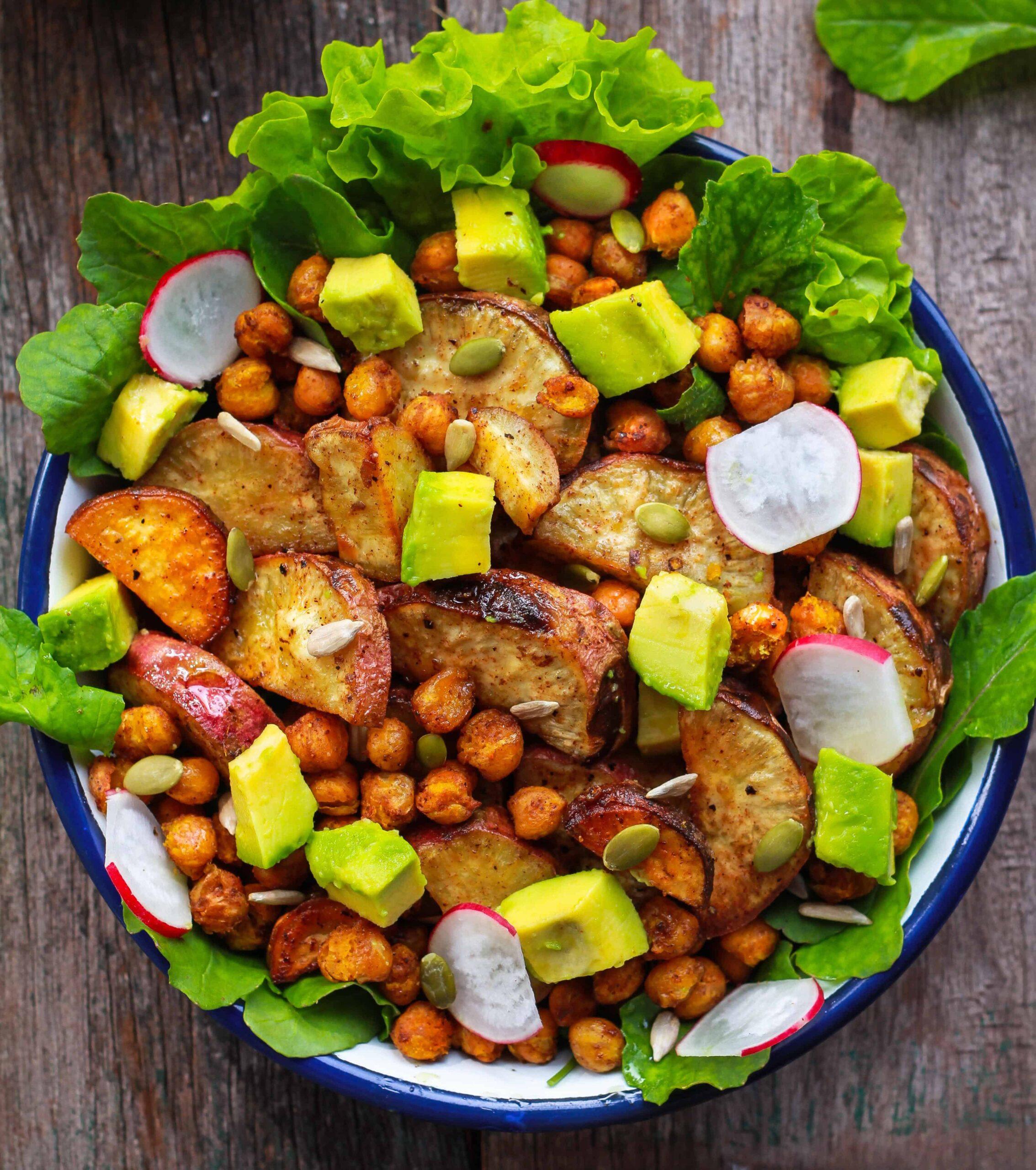 Roasted Sweet Potato and Chickpea Salad