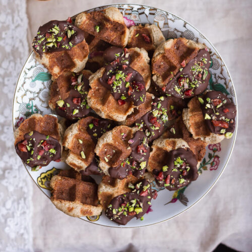 Gluten-free Waffle Cookies   Eggless Waffle Cookies Recipe