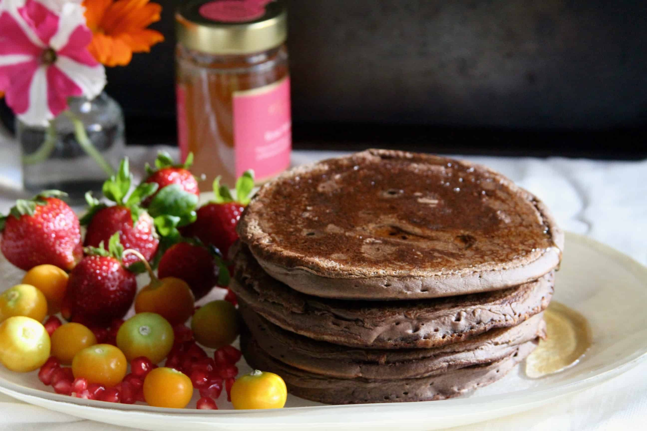 Chocolate Banana Buckwheat Pancakes