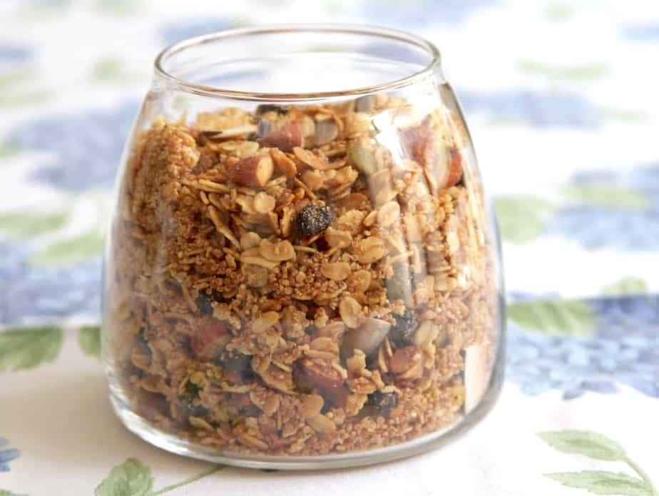 Almond Butter Quinoa Granola