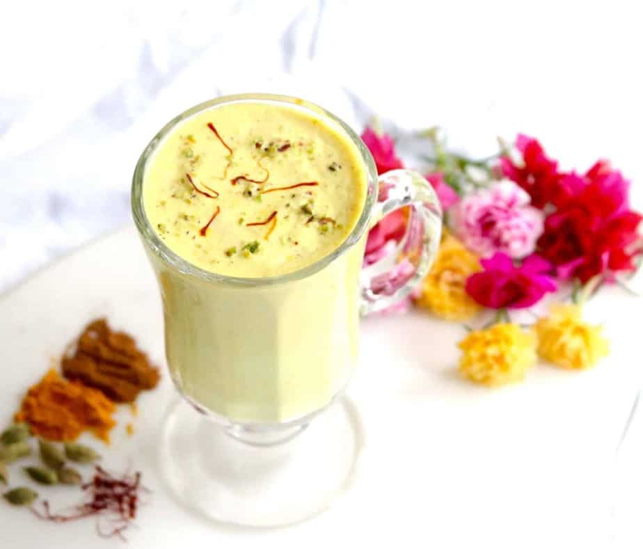 Saffron Turmeric Cashew Milk