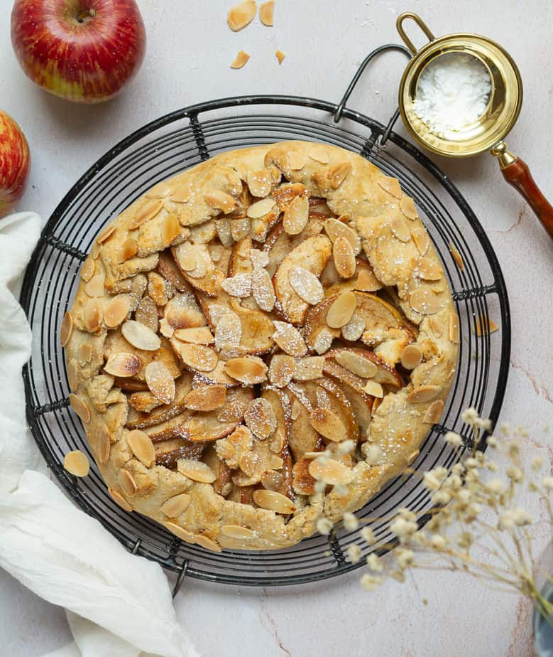 Apple Marzipan Galette | Easy gluten-free apple galette with homemade marzipan