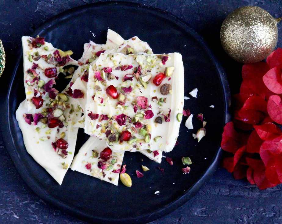 Rose & White Chocolate Bark