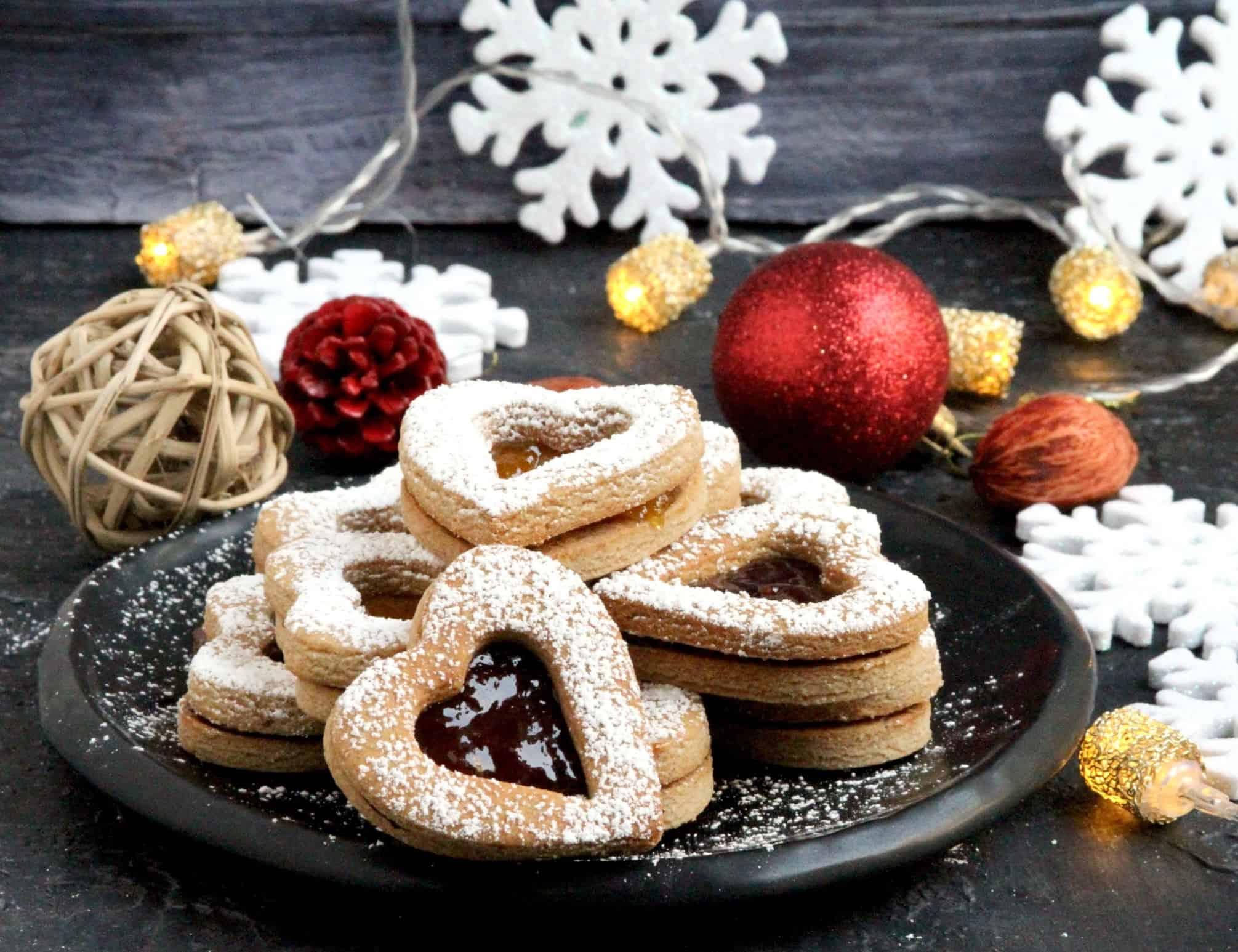 Almond Buckwheat Linzer Cookies