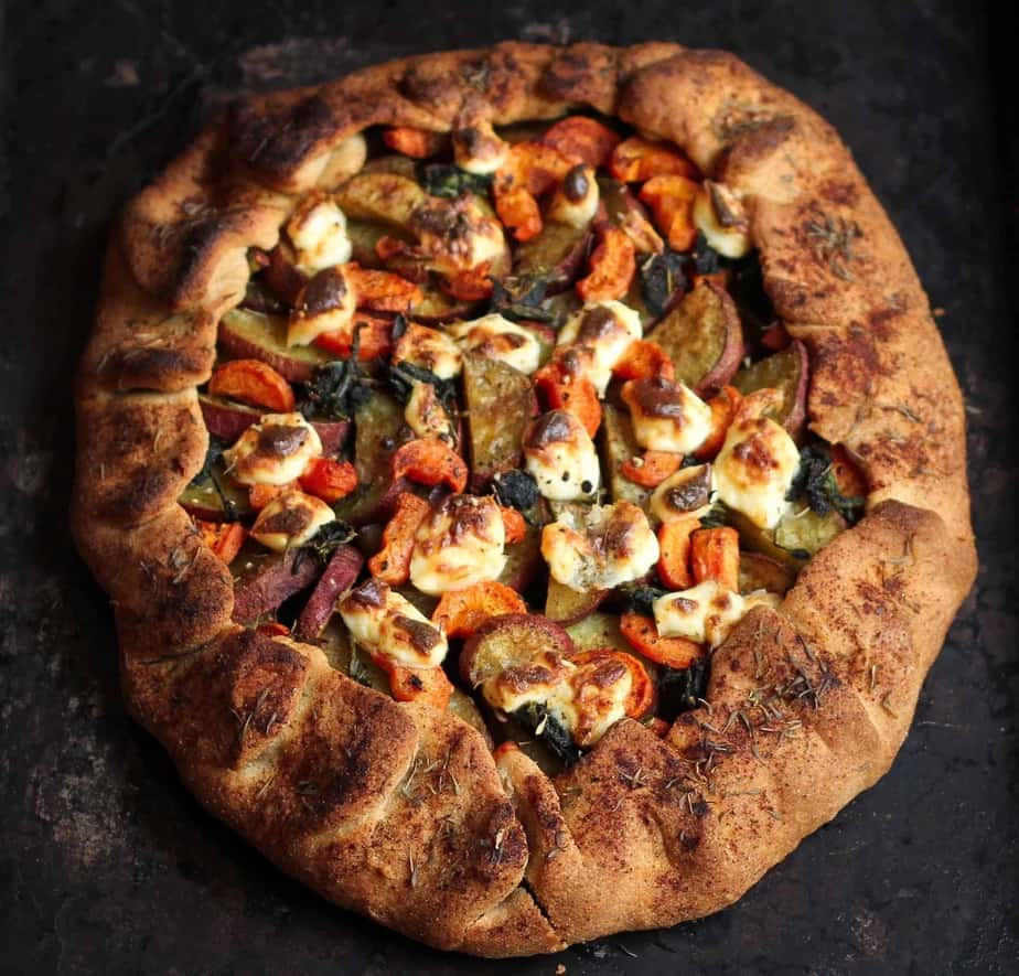 Sweet Potato Carrot Galette vegetarian, eggless, vegetables, healthy, easy recipe, easy meals