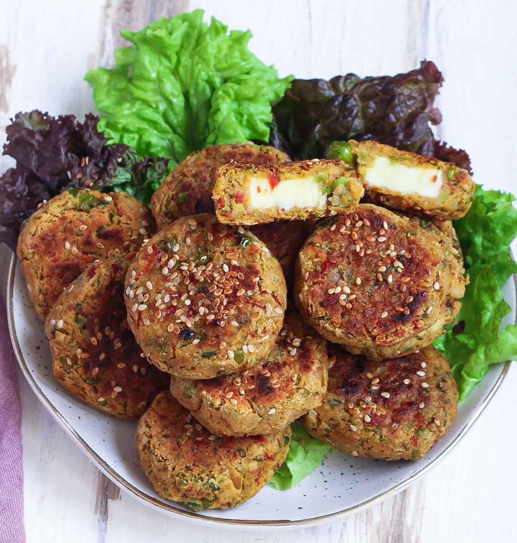 Vegetable Cheese Falafels vegetarian, healthy, easy recipe, glutenfree recipe
