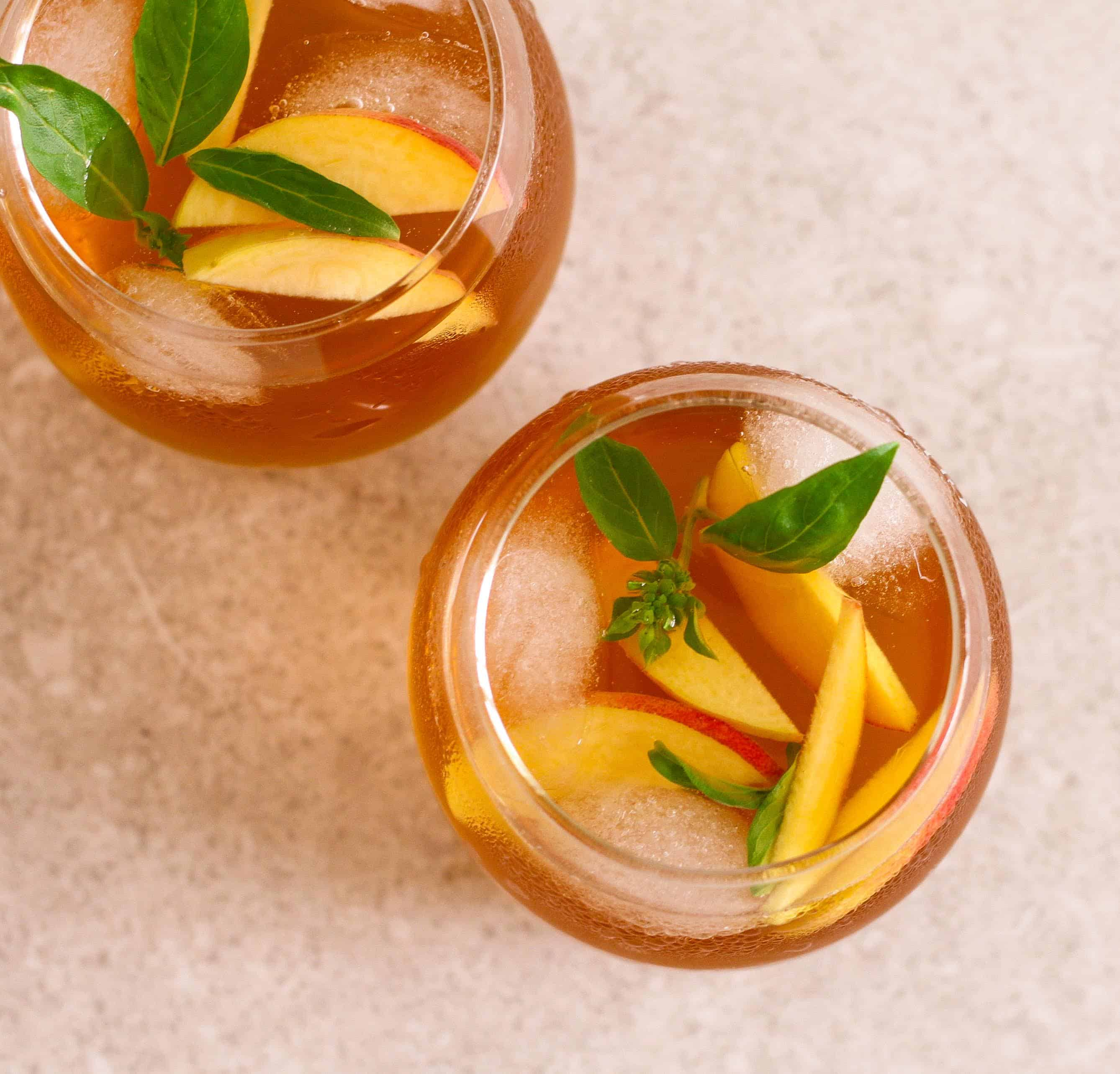 Peach Iced Tea | Cold Brewed