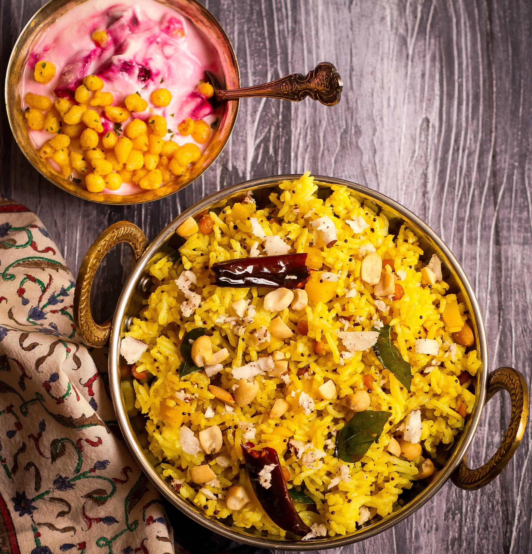 Raw Mango Rice vegan glutenfree summer easy recipe Indian cuisine