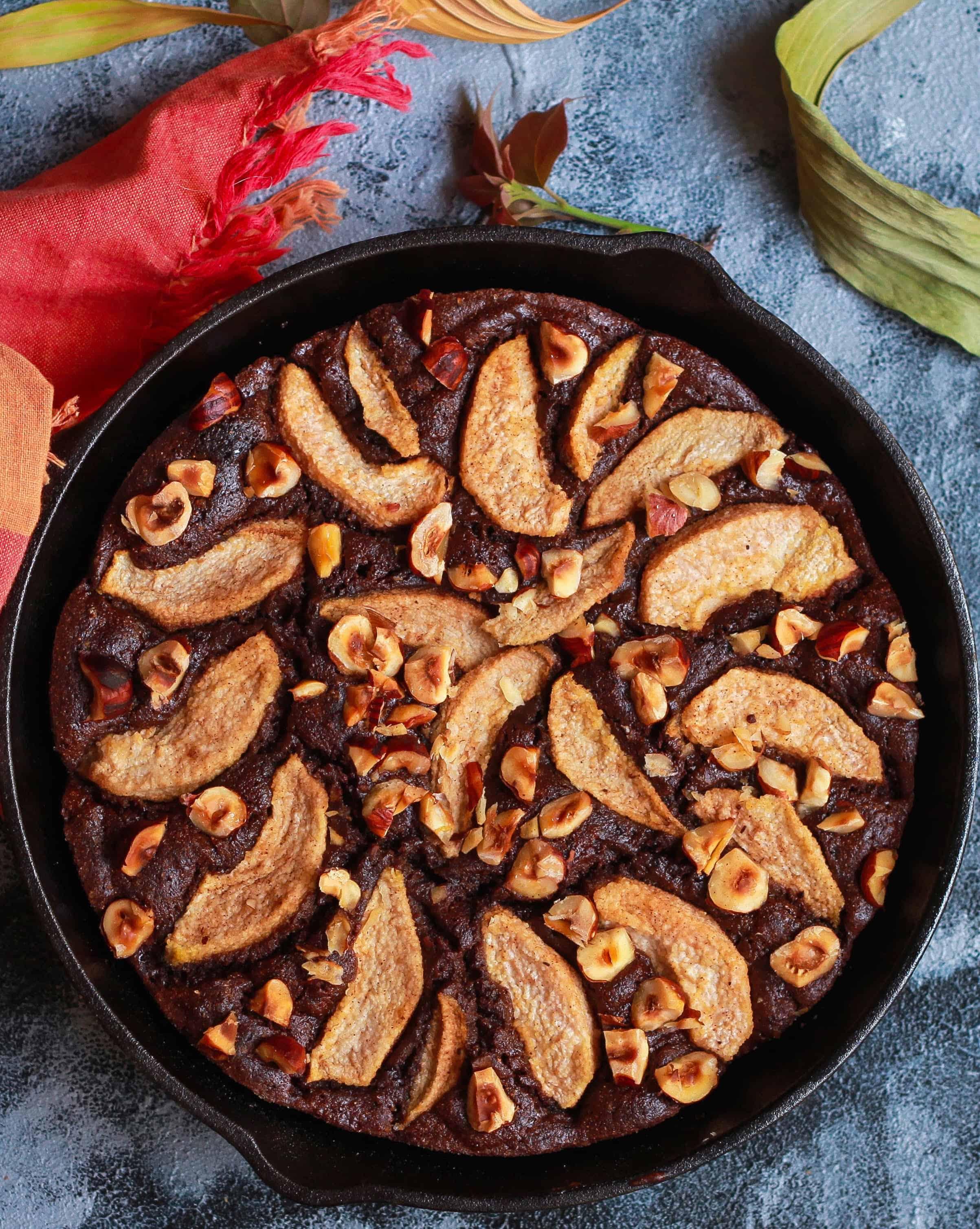 Chocolate Pear Amaranth Cake