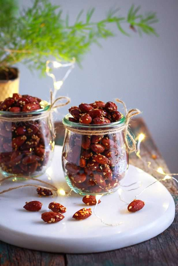Honey Sesame Almonds healthy snacking festive edible gifting