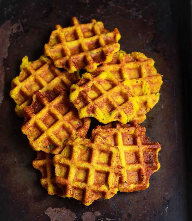 Sweet Potato Cornmeal Waffles easy healthy glutenfree recipe