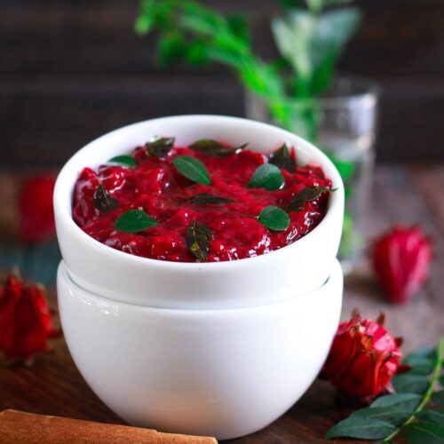 Roselle Flower Chutney Indian Cuisine vegan glutenfree easy healthy recipe