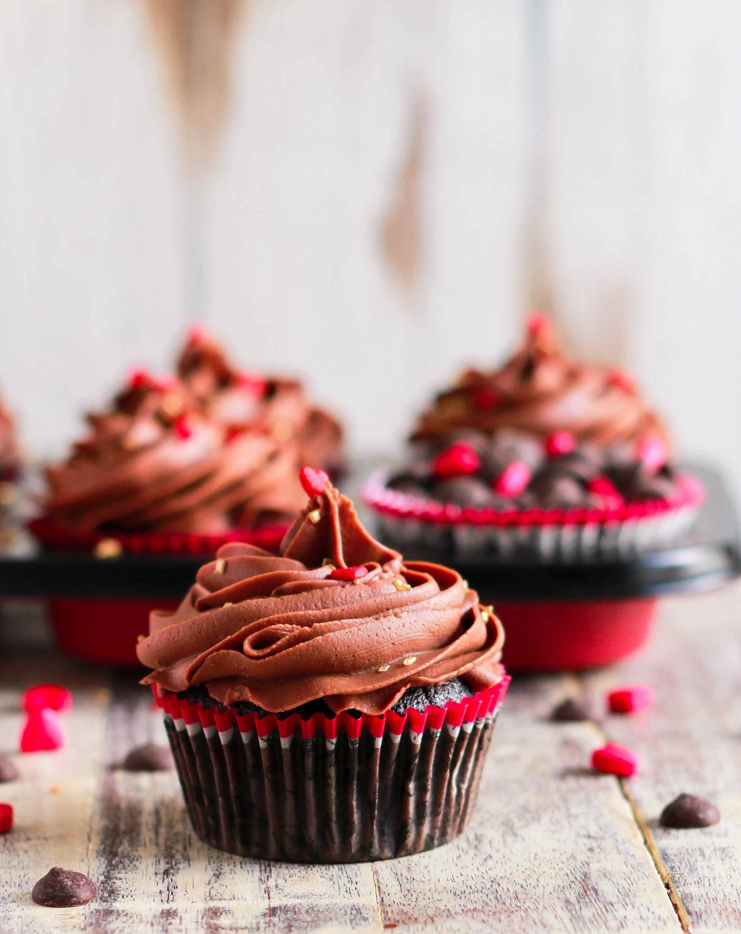 Mocha Cupcakes with Chocolate Cream Cheese Frosting