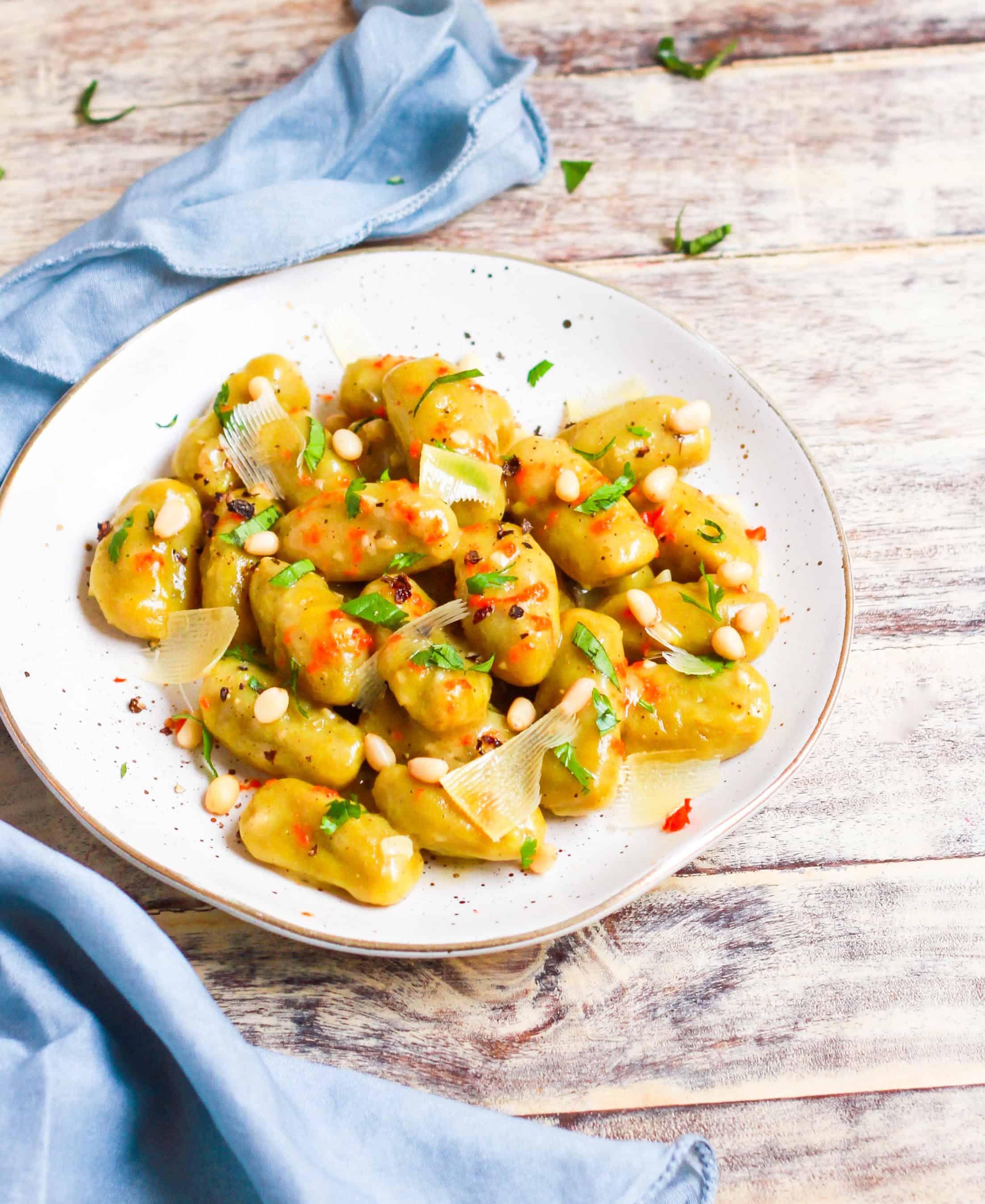 Sweet Potato Gnocchi   Glutenfree Eggless Recipe
