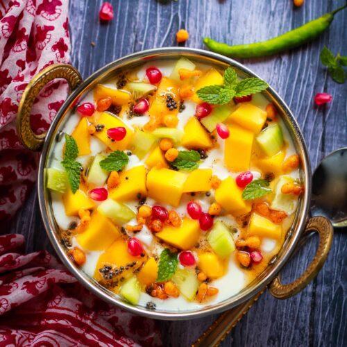 Mango Raita - aam ka raita   summer recipe