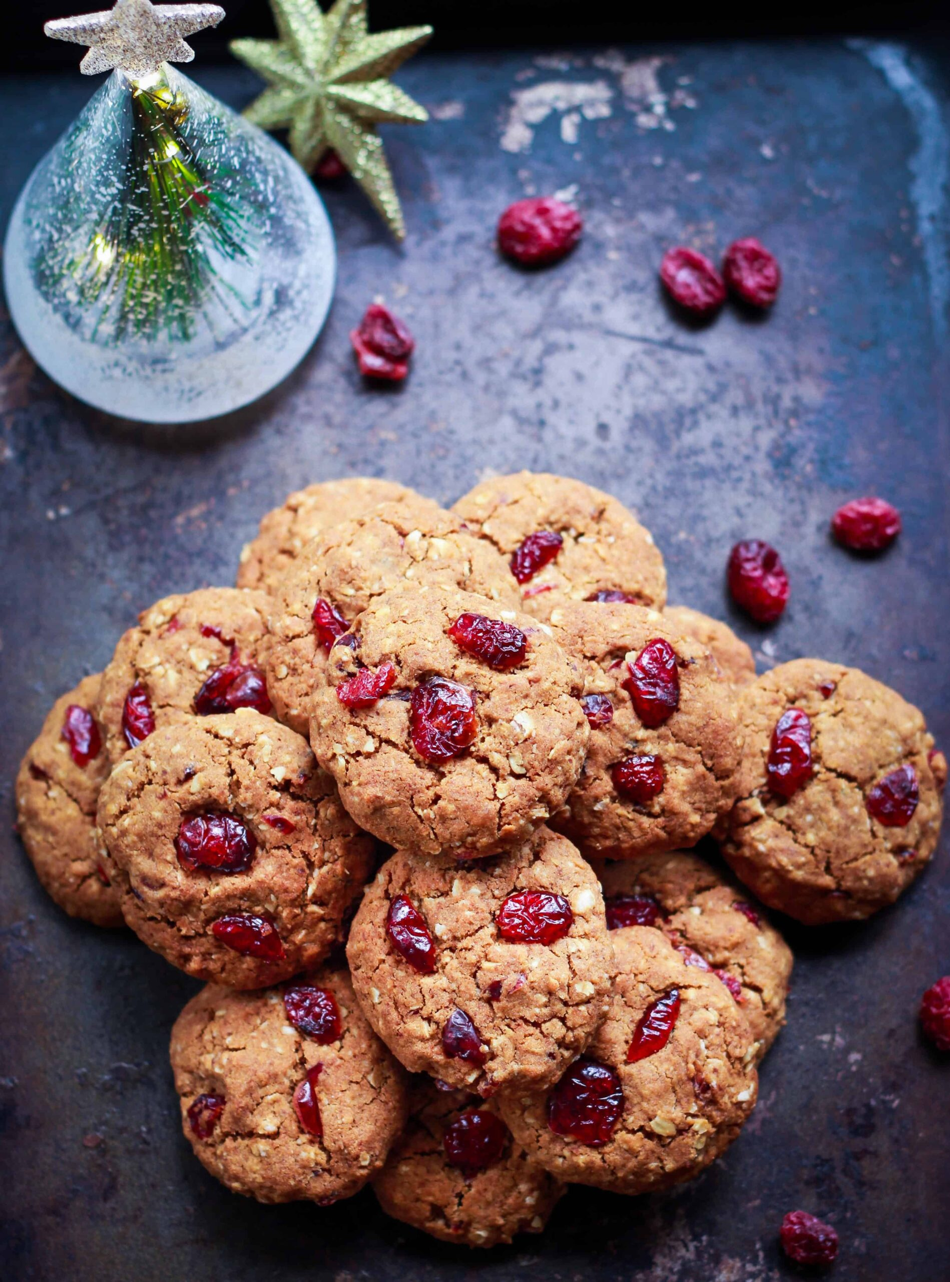 Ginger Cranberry Oatmeal Cookies