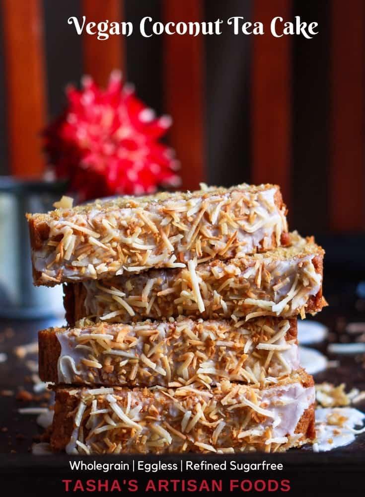 Vegan Coconut Tea Cake dairyfree wholegrain healthy recipe
