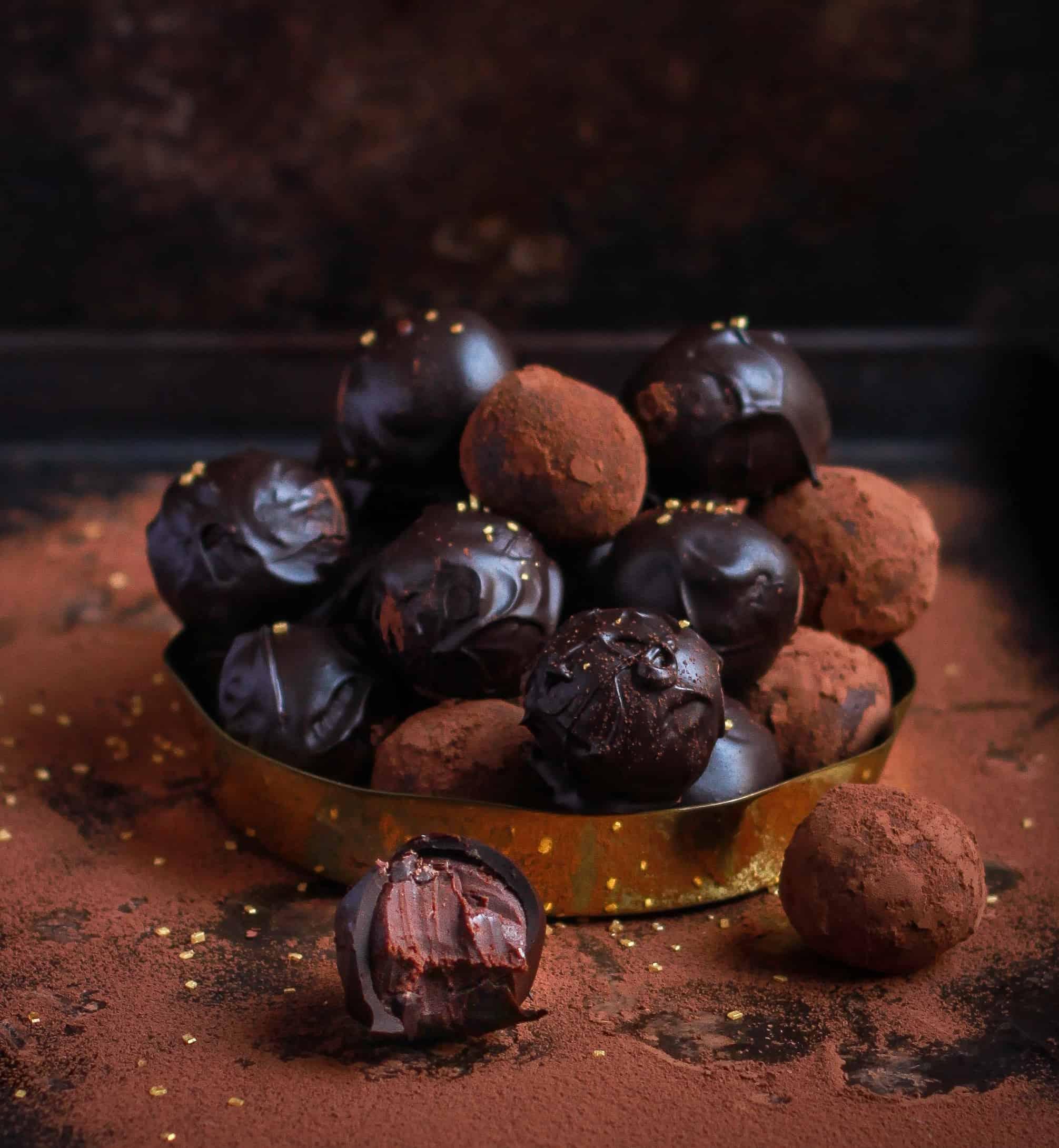 Baileys Chocolate Truffles easy fun recipe for Valentines Day
