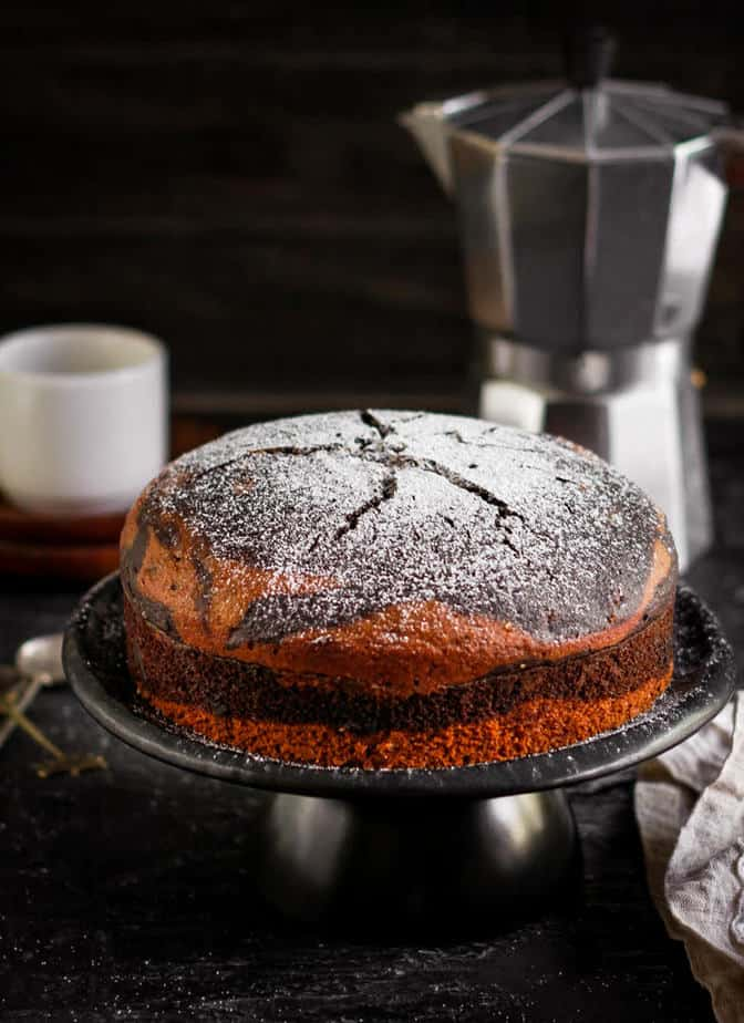 Easy Eggless Stovetop Marble Cake   Vegan Recipe   Chocolate Cake