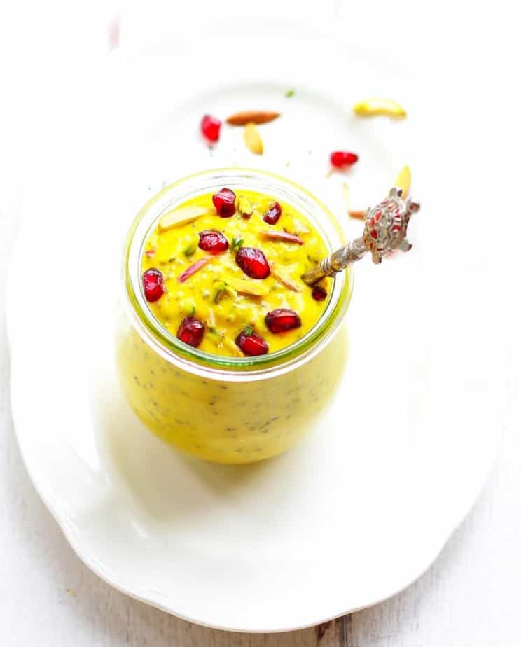 Turmeric Mango Chia Pudding