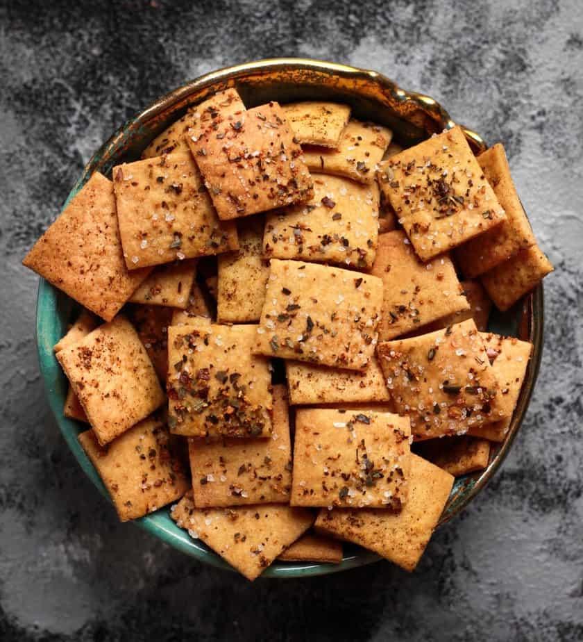 Sourdough Crackers | Easy Vegan Sourdough Cracker Recipe