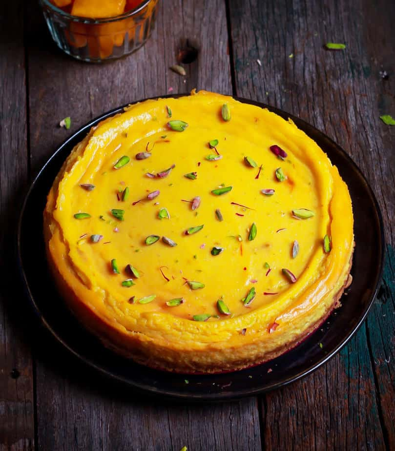 Baked Ricotta Mango Cheesecake | Easy summer cheesecake