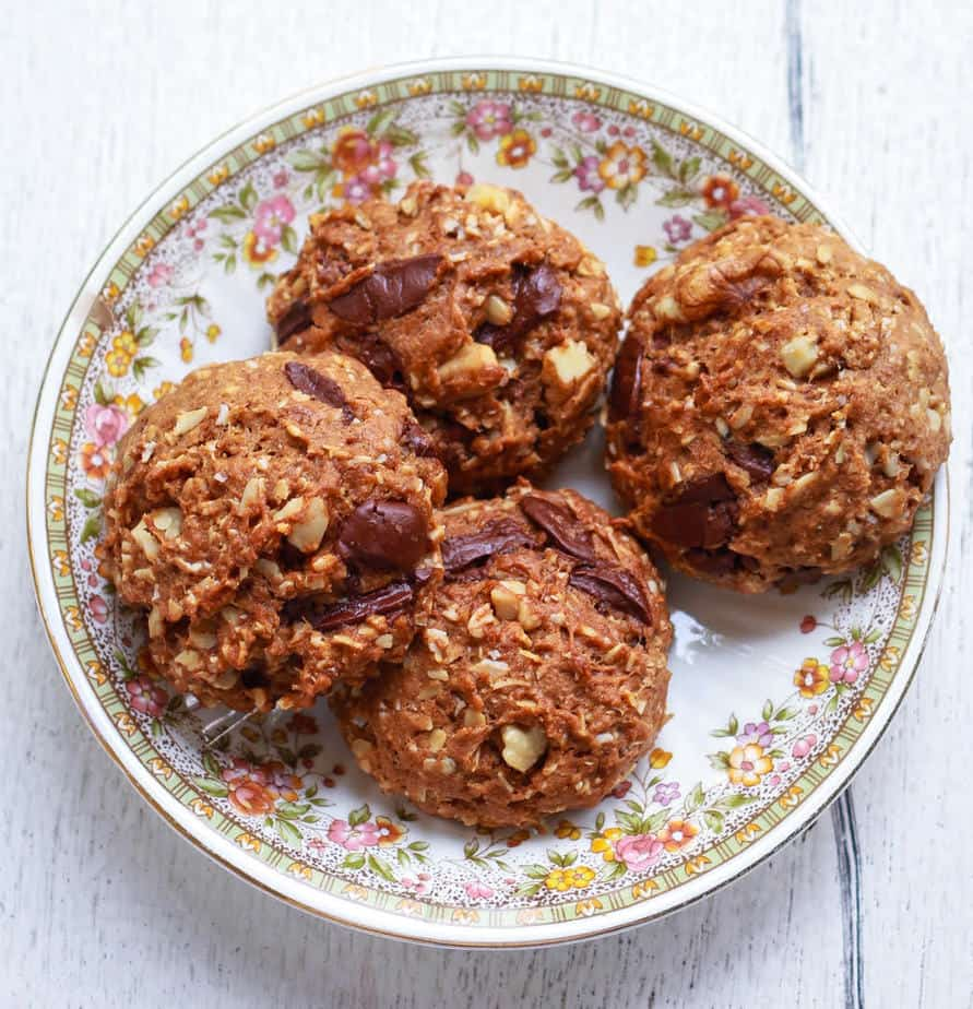 Sourdough Oatmeal Walnut Cookies   Easy vegan recipe