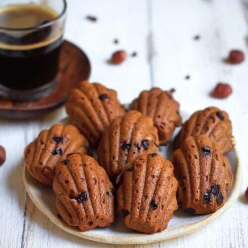 Vegan Coffee Hazelnut Madeleines