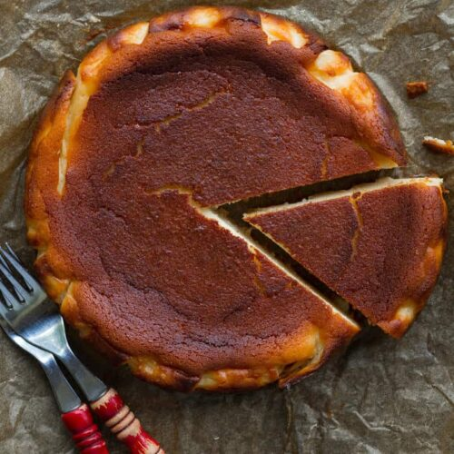 Burnt Basque Cheesecake | Basque Cheesecake recipe