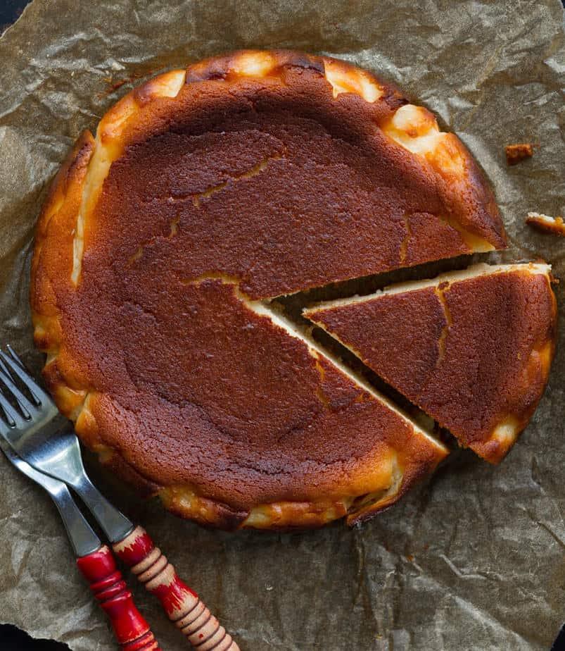 Burnt Basque Cheesecake   Basque Cheesecake recipe