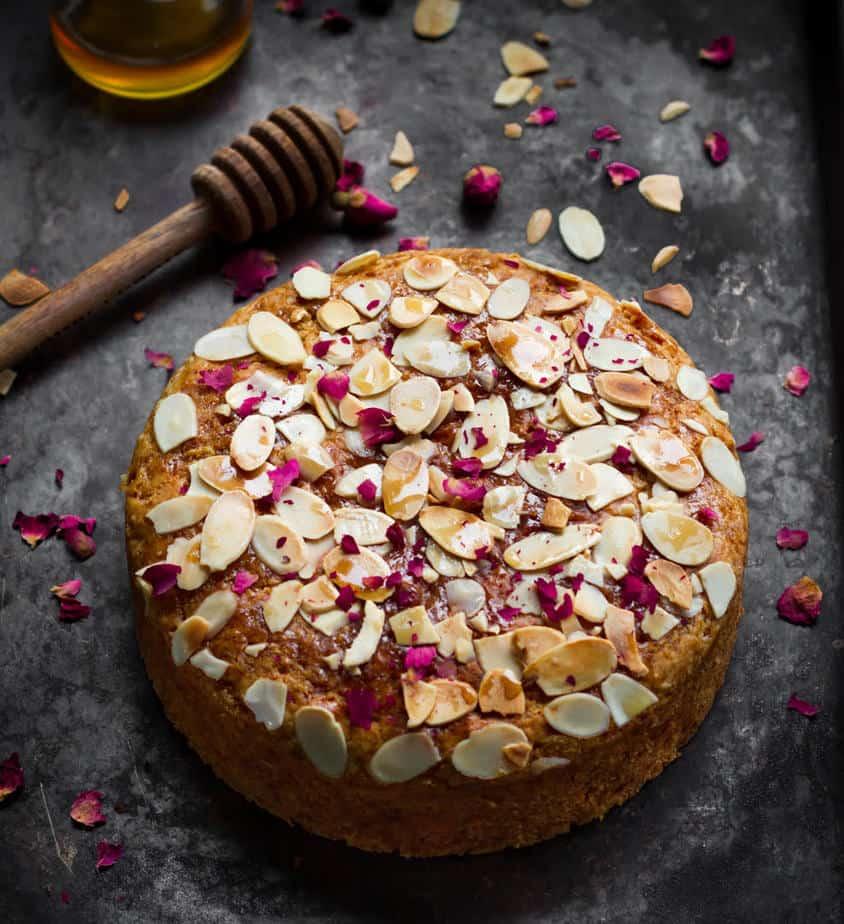 Honey Almond Cake | Easy Eggless Recipe