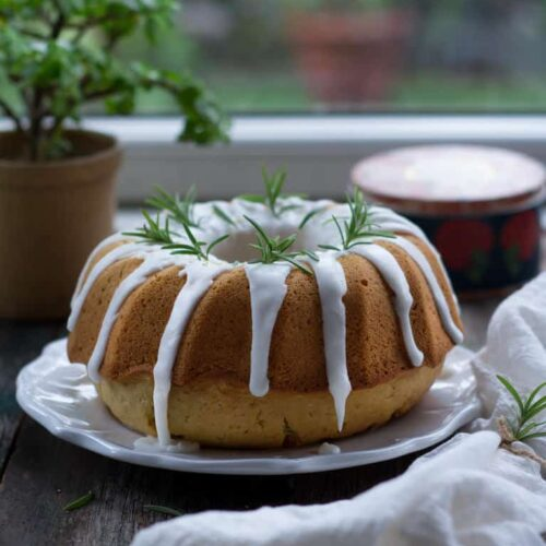 Rosemary Lemon Olive Oil Cake