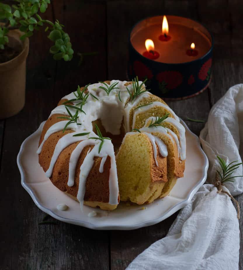 Rosemary Lemon Olive Oil Cake