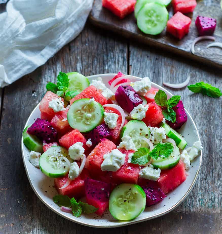 Watermelon Feta Salad | Easy summer salad