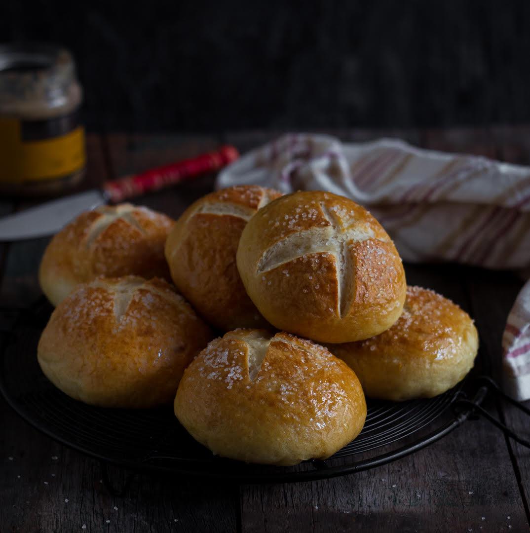 Easy Pretzel Rolls | Pretzel Bread