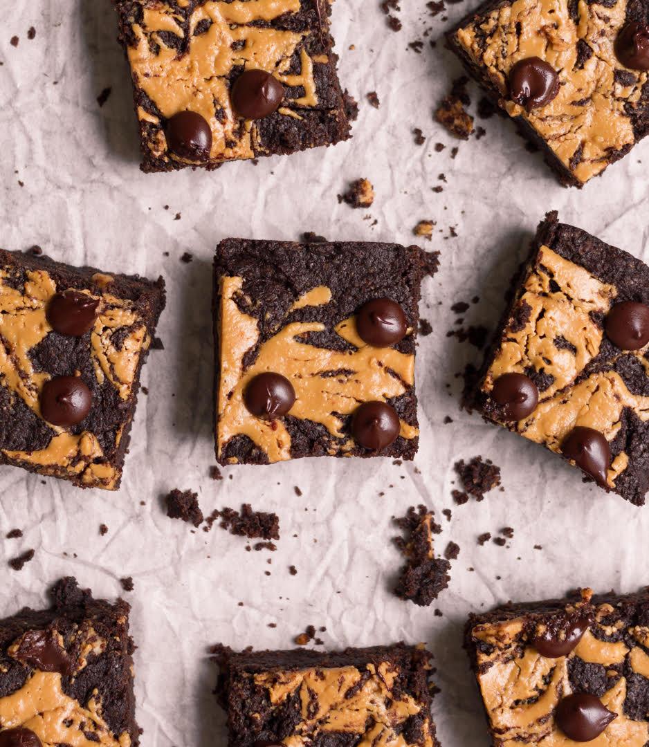 Sourdough Peanut Butter Brownie| Egg;ess chocolate brownie recipe