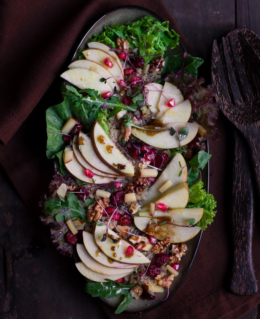 Apple Walnut Salad | Easy healthy apple salad recipe