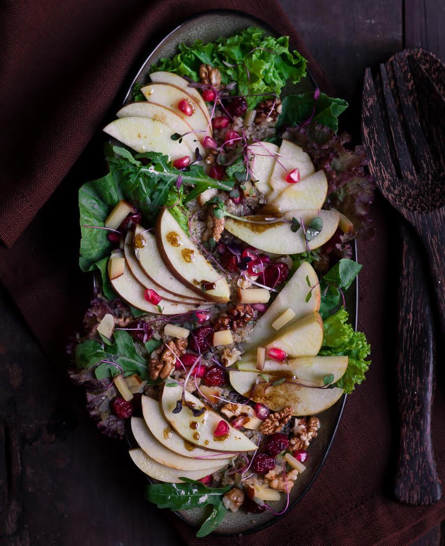 Apple Walnut Salad | Easy healthy apple salad recipe