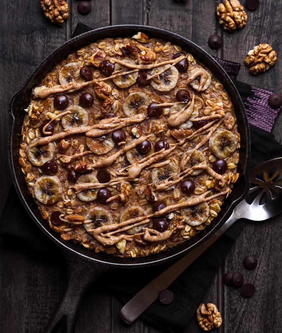 Banana Baked Oatmeal | Easy vegan baked oatmeal recipe