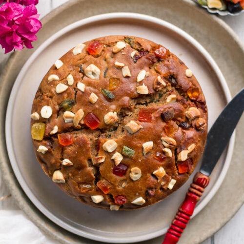 Eggless Tutti Frutti Cake| Easy Vegan Tutti Frutti Cake Recipe
