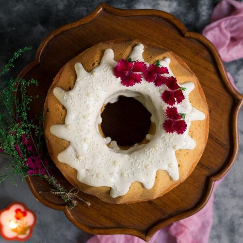 Cream Cheese Pound Cake | Eggless Cream Cheese Pound Cake Recipe