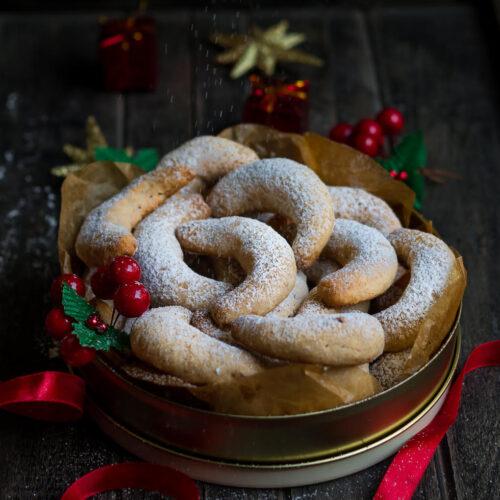 Lemon Crescent Cookies | Eggless Crescent Cookies