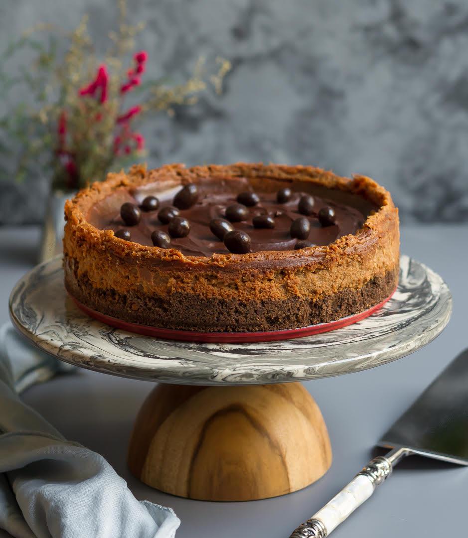 Espresso Cheesecake | Eggless Coffee Cheesecake Recipe