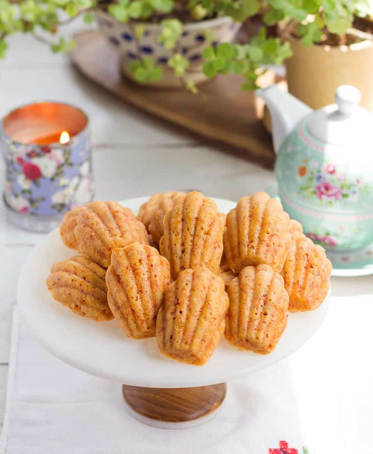 Carrot Cake Madeleines | Easy vegan carrot madeleines recipe