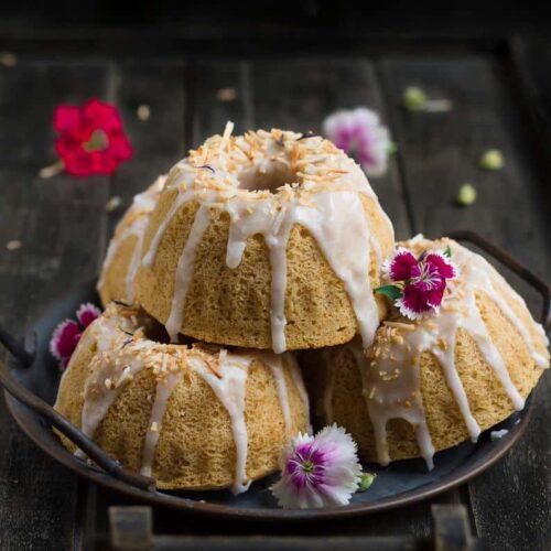 Coconut Cardamom Cake | Vegan Coconut Cake